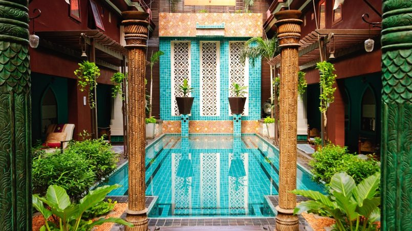 entrance to art hotel Thailand