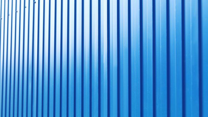 Blue steel fence background